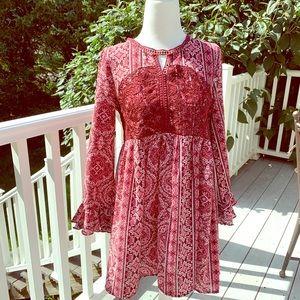 Boho Fall Mini Dress Tunic by Iris and Ivy 14